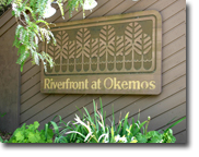 Riverfront sign